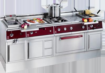 Ligne de cuisson compl te pour les professionnels bar expert - Agencement de cuisine professionnelle ...